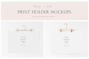 Print Holder Mockup Bundle