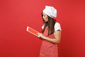 Housewife female chef cook or baker