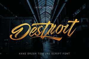 Destroit | Hand Brush Texture