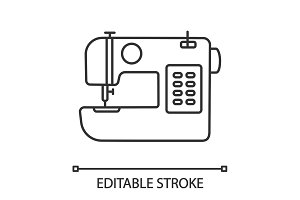 Sewing machine linear icon