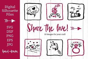 Lovely valentines day set - #4 SVG