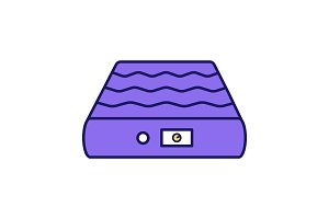 Air mattress color icon