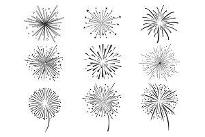 Brightly celebration fireworks set