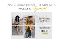 Instagram Puzzle Templates - Fashion