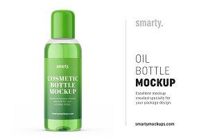 Cosmetic oil bottle mockup