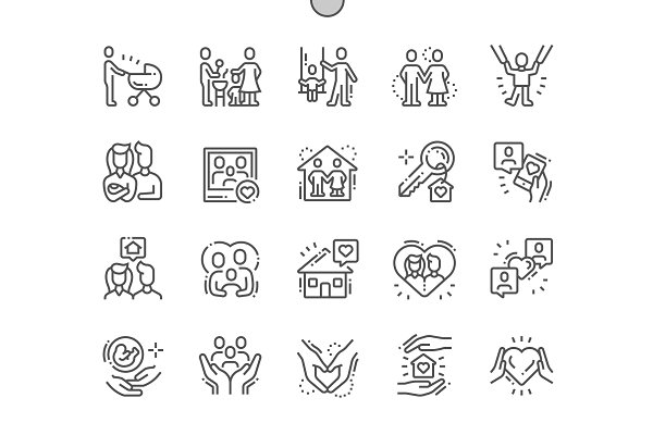 Family Line Icons