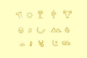 15 Desert Icons