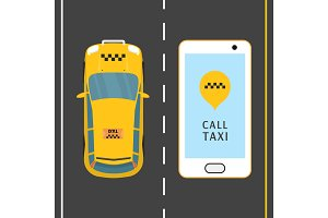 Mobile phone with taxi service
