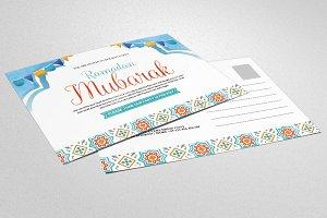 Ramadan Kareem Postcard Template