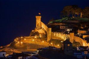 Tossa de Mar at Night