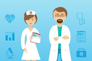Medical personnel characters
