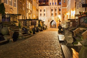 Old Town of Gdansk by Night