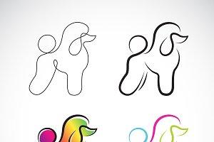 Vector of poodle dog design.  Pet.