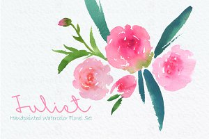 Juliet- Watercolor Clip Art