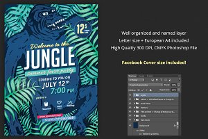 Jungle Fever Summer Party Flyer