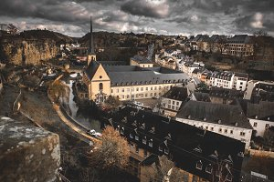 Churches And scenic In Luxembourg Ci
