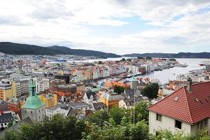 Bergen city view, Norway