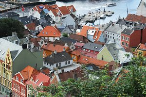 Roofs of Bergen, Norway
