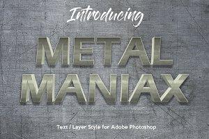 10 Metalic Chrome Layer Style