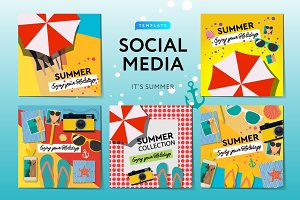Summer Time Social Media Banners