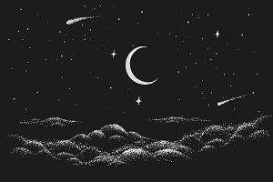 View to night sky