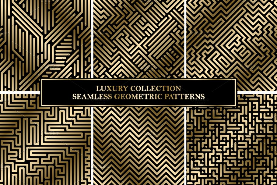 Luxury seamless striped patterns