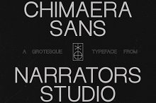 NF Chimaera - Grotesque Sans Serif by  in Sans Serif Fonts