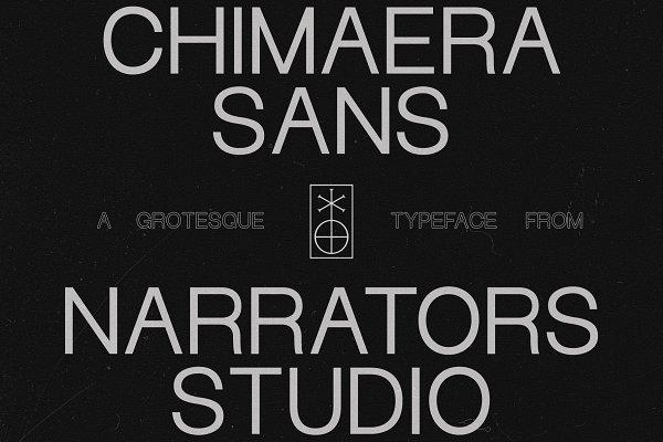Sans Serif Fonts: Narrators Studio - NF Chimaera - Grotesque Sans Serif