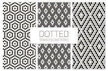 Dotted Seamless Patterns. Set 4