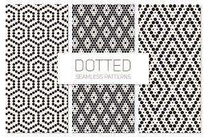 Dotted Seamless Patterns. Set 4