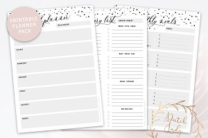 Meal & Grocery Planner Pack - Dotted