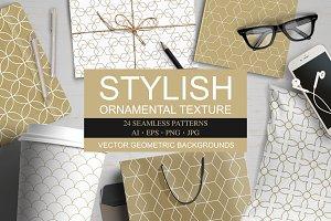 Vector ornamental seamless patterns