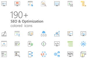 SEO colored iconset