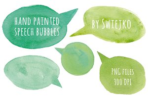 Hand painted speech bubbles
