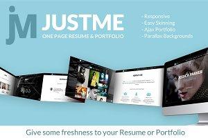 justMe - One Page Resume & Portfolio