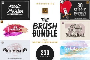 Illustrator Brushes Super Bundle