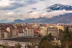Old Town of Grenoble, France