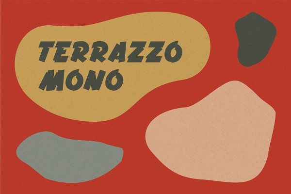 Display Fonts: Didem Ogmen - Terrazzo Mono Display Font
