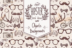 Hipster hand drawn