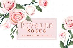 Rivoire Roses- Acrylic Clip Art