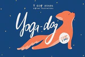 Yoga Dog Poses / Digital Arts