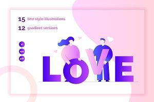 Big Lovers. Illustrations