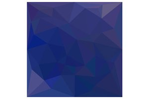 Blue Sapphire Abstract Low Polygon B