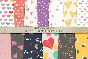 Be Mine Seamless Patterns