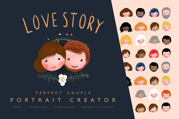 Illustrations: Laura Ingham - Love Story Portrait Creator
