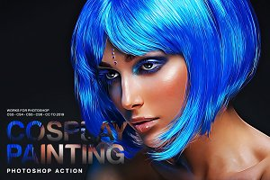 Cosplay Painting Photoshop Action