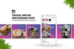 Travel Brush Instagram Post