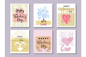 Happy  Valentine's Day. Set cards