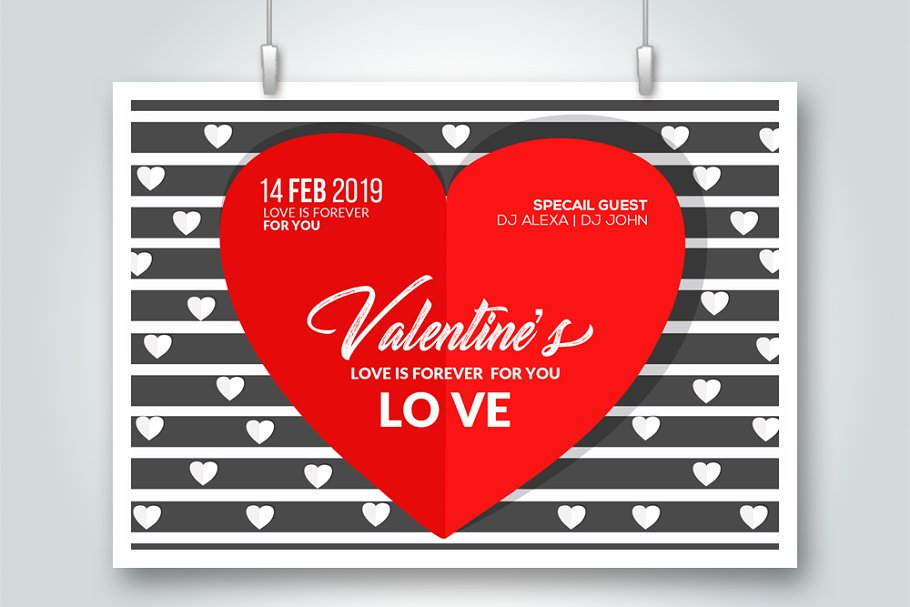 Valentine's Day Card Flyer Templates