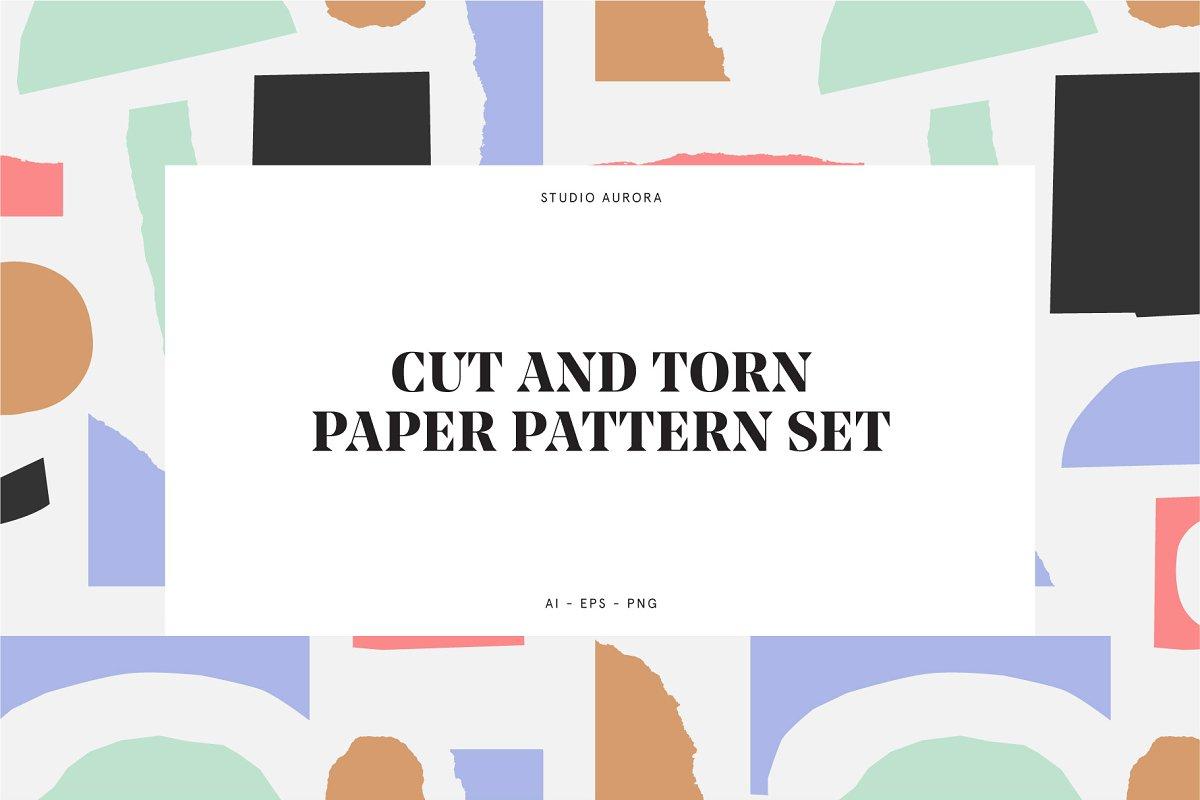 Cut & Torn Paper Pattern Set ~ Graphic Patterns ~ Creative Market